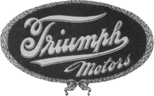 1914 Broader Triumph Script in Oval Triumph Motors