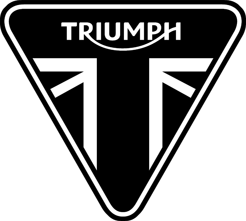 2014-Present Triumph Triangle. Used on Triumph Motorcycle Merchandise and Accessories
