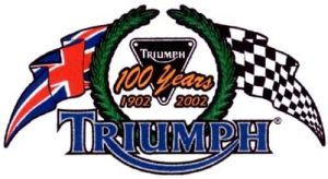 2002 Triumph Centenary Logo Used for the 100 year anniversary of the first Triumph motorcycle